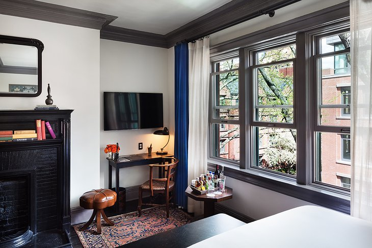 The High Line Hotel room with large windows