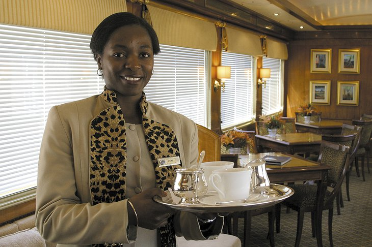 The Blue Train female butler