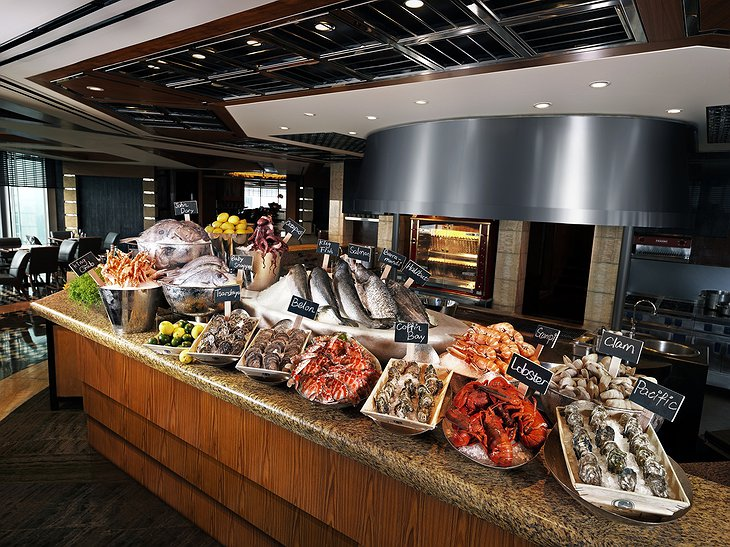 The Grill - Seafood Market counter