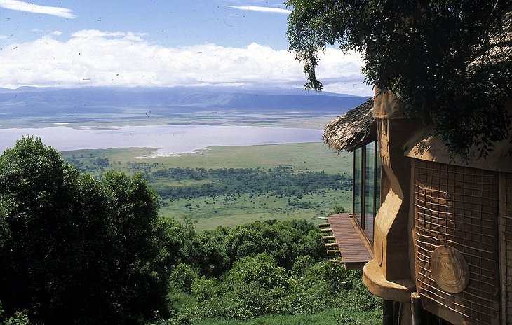 View on Lake Magadi from Ngorongoro Crater Lodge