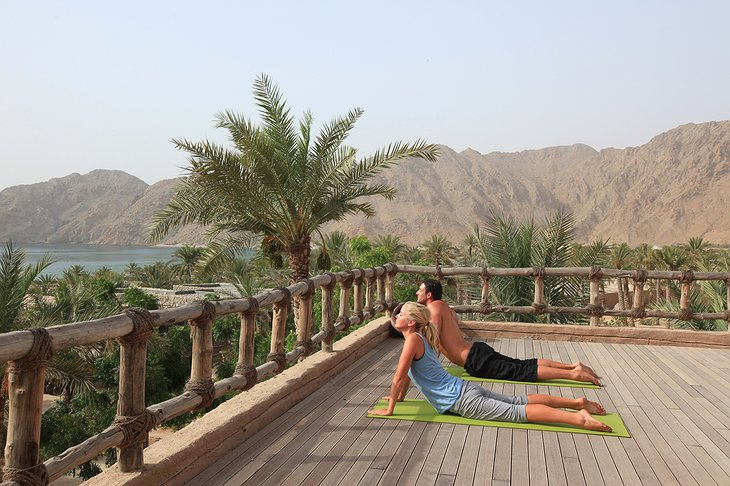 Yoga on the rooftop terrace