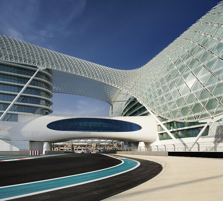 Yas Viceroy and the racetrack