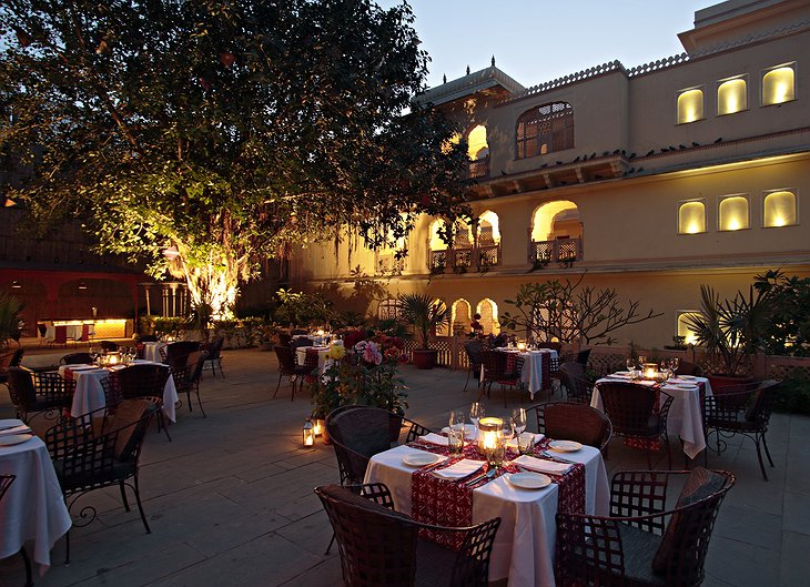 Samode Haveli romantic dinner