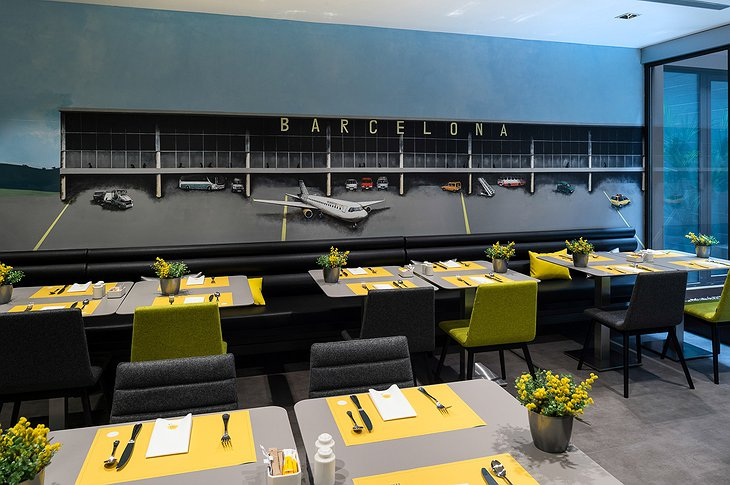 Barcelona airport theme dining room