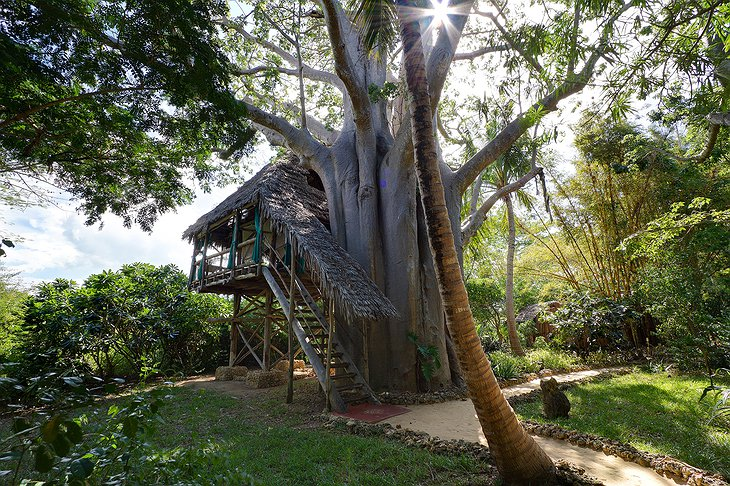 Chole Mjini Lodge treehouse