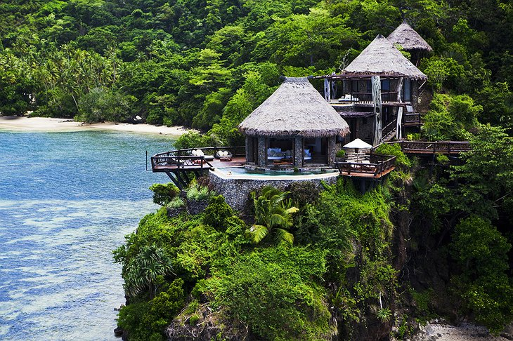 Laucala Island Resort Peninsula Villa in the lush tropical hills