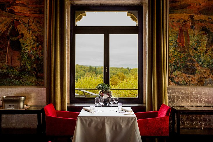 The Dolder Grand Hotel restaurant window view