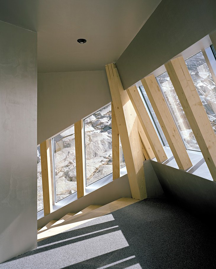 The New Monte Rosa Hut interior details