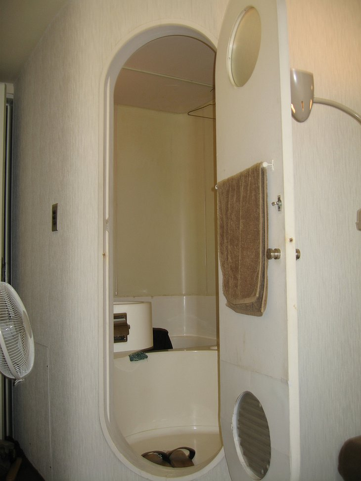 Nakagin Capsule Tower shower cabin