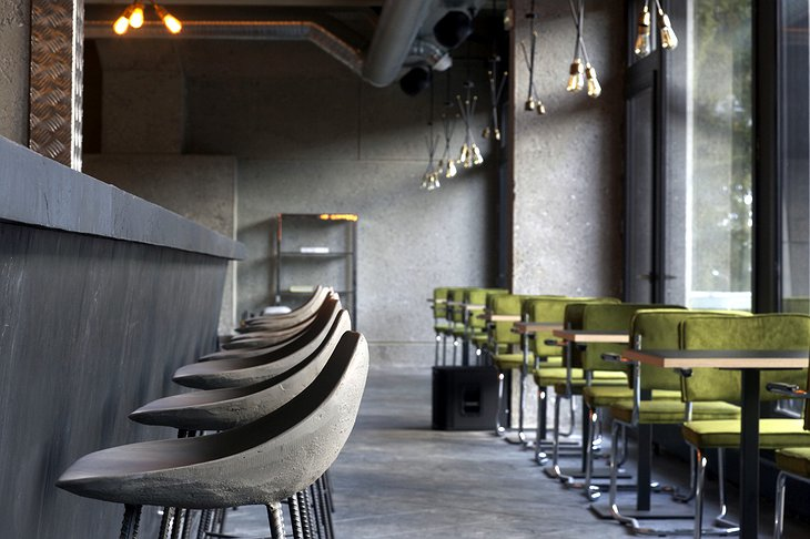 Totem Flaine Hotel bar chairs