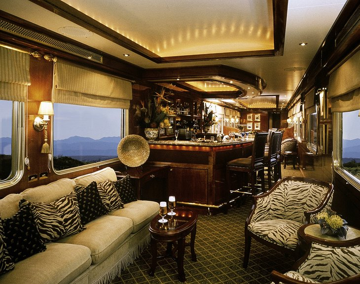 The Blue Train lounge car