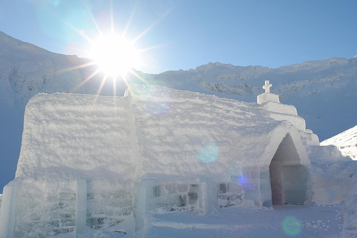 Ice Church at Balea Ice Hotel