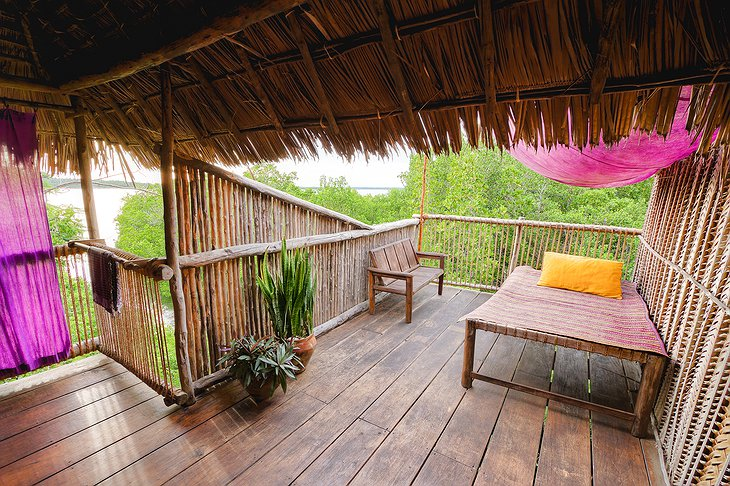Chole Mjini Lodge treehouse terrace