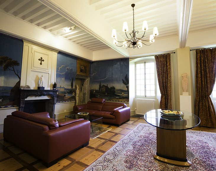 Chateau St Philippe living room