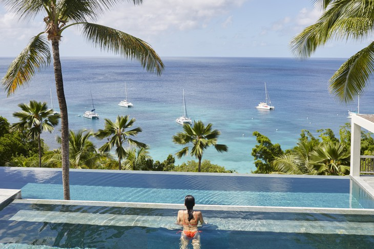 Mustique Island swimming pool