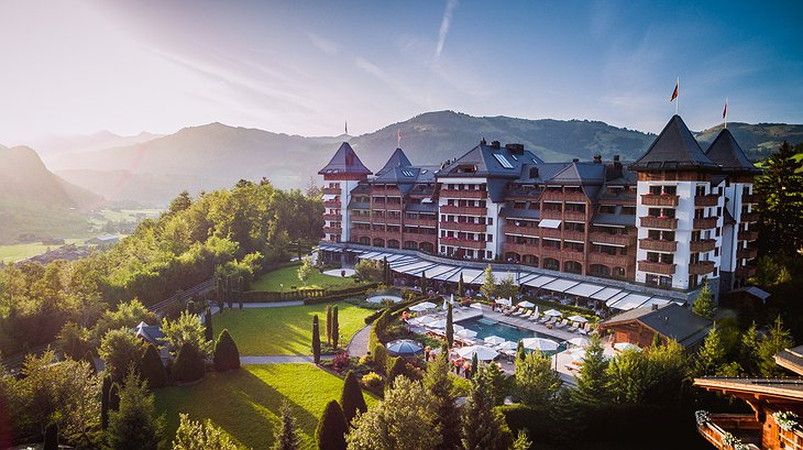 Alpina Gstaad Hotel Aerial