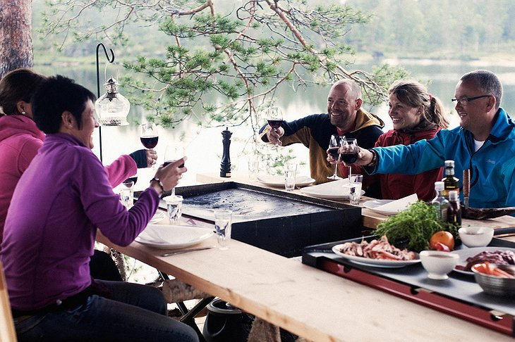 The Canvas Hotel dinner in the Norwegian nature
