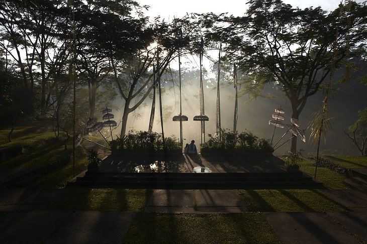 Maya Ubud Resort open stage morning