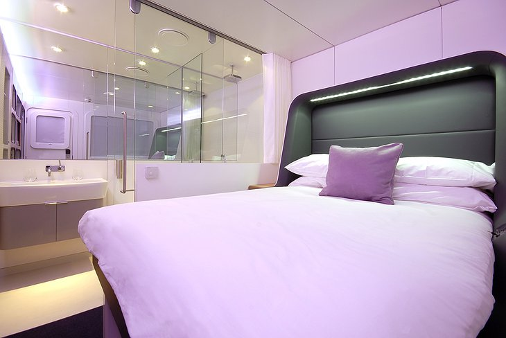 Yotel room from the inside