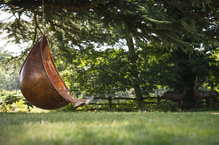 Lime Wood Hotel outdoor swing chair