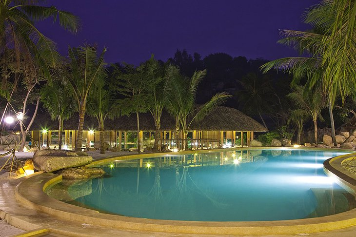 I Resort pool at night