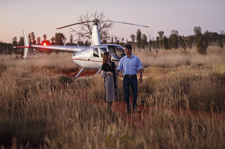 Helicopter ride in the outback