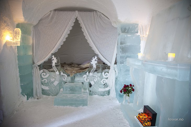 Romantic ice igloo