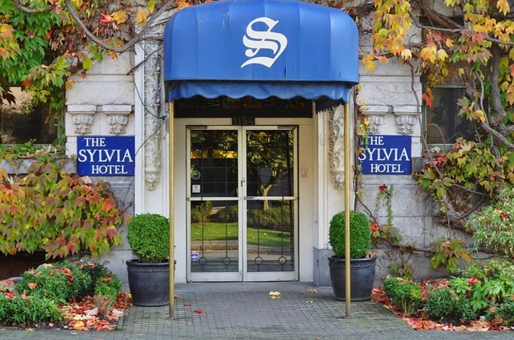 The Sylvia Hotel main entrance