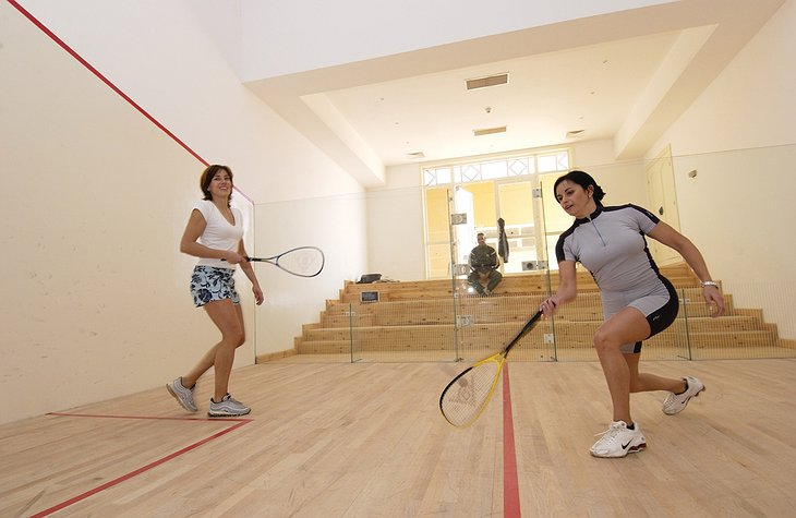 The Cascades squash court