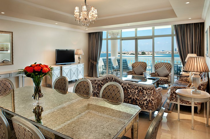 Kempinski Palm Jumeirah suite with lagoon view