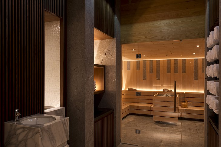 The Chedi Andermatt sauna
