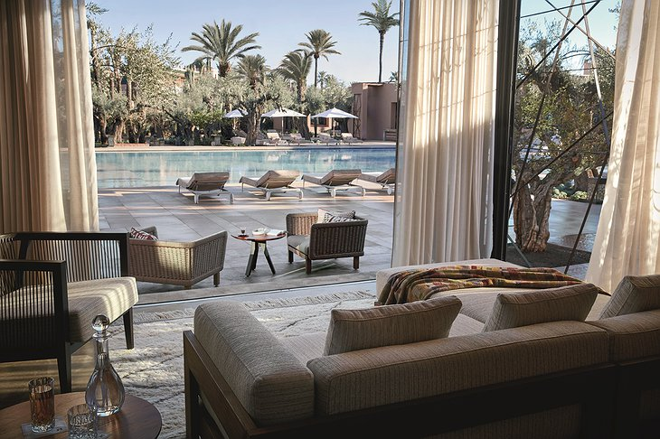 Royal Mansour Marrakech relaxing at the pool