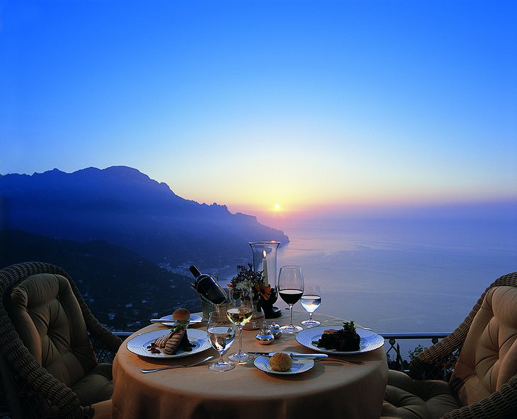 Dining with breathtaking views