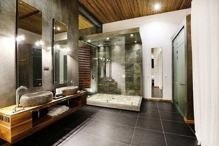 Kura Design Villas showers