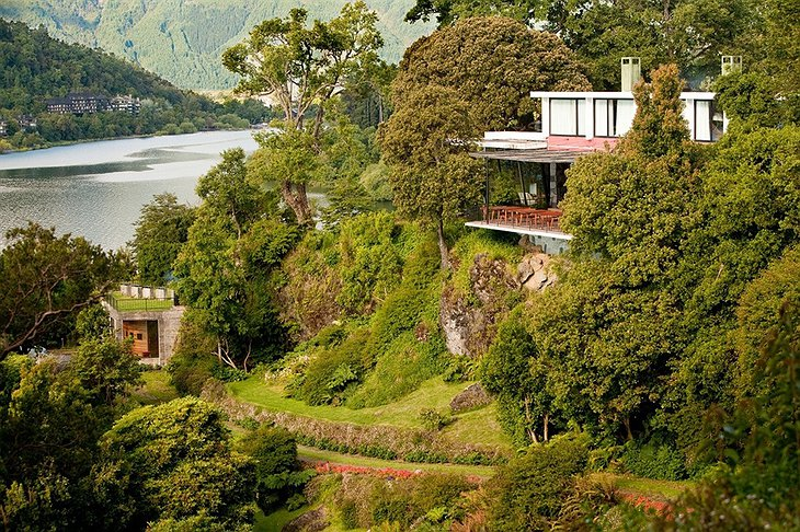 Hotel Antumalal in the middle of the Pucon nature