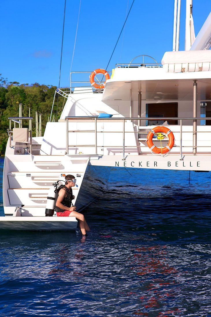 Necker Belle diving