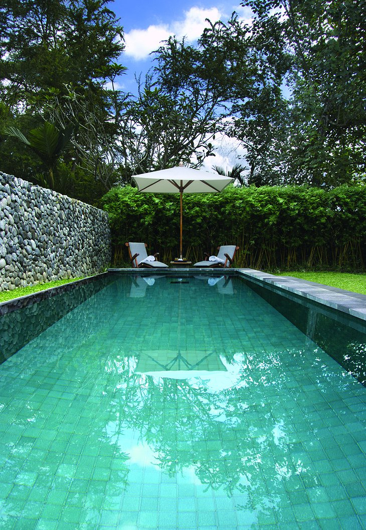 Alila Ubud pool villa exterior with pool