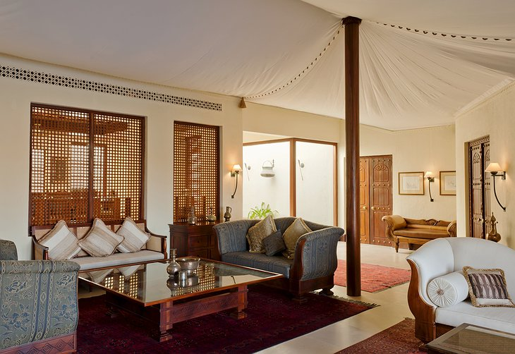 Al Maha Desert Resort tent interior