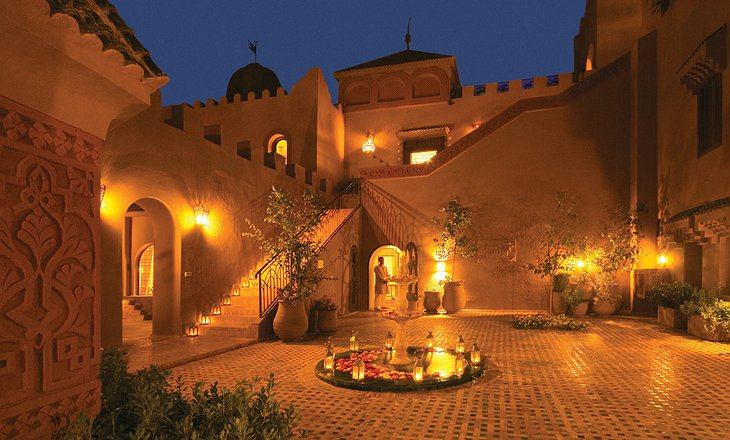 Kasbah Tamadot at night