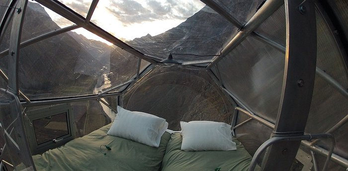 Skylodge Adventure Suites - Sleeping In A Transparent Hanging Capsule On The Mountain