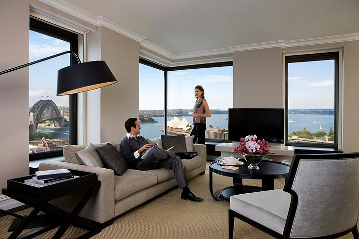 Four Seasons Sydney suite with couple at the window
