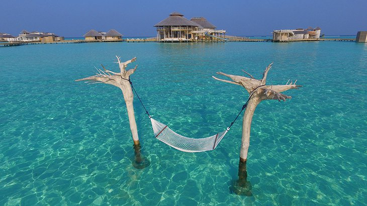 Soneva Jani Maldives water hammock above the ocean