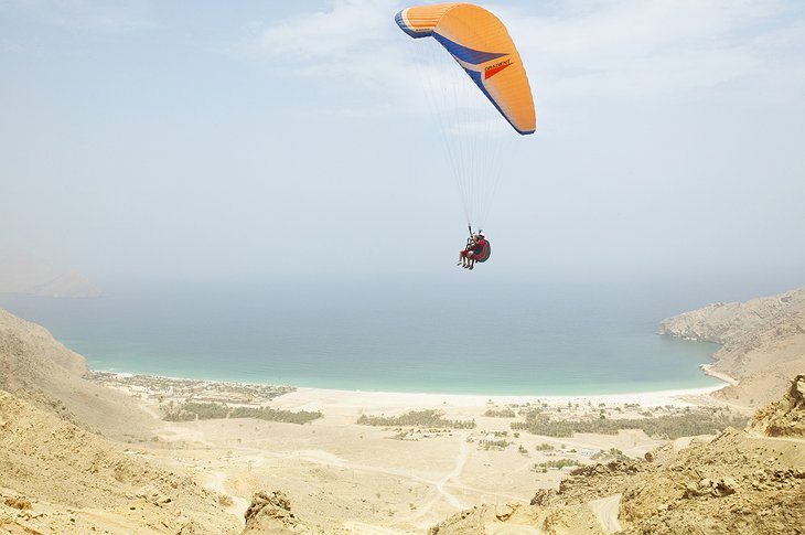 Parachuting in Zighy Bay