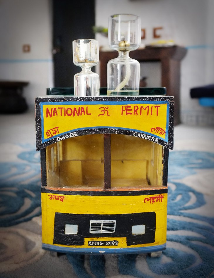 Indian yellow bus toy