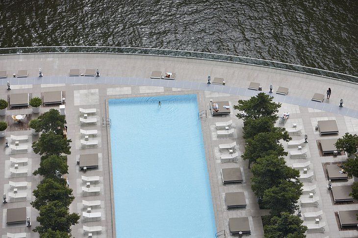 Swimming pool from the air