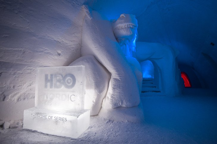 Lapland Hotels SnowVillage Entrance