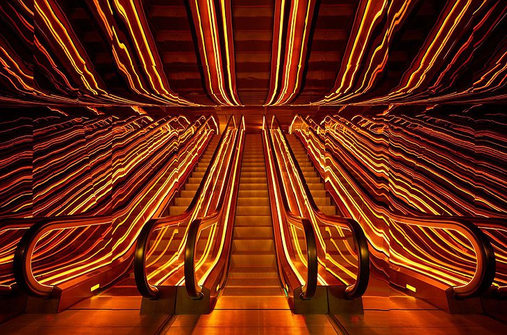 PUBLIC Hotel New York Wicked Escalator