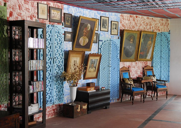 The Farm Jaipur wall decoration with paintings on Indian people