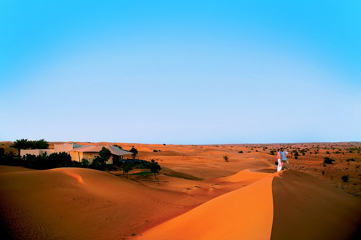 Sand dunes at Al Maha Desert Resort