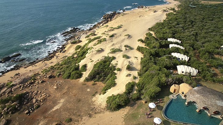 Wild Coast Tented Lodge aerial